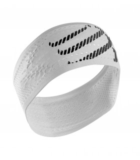 Compressport Compression Headband White - Racket