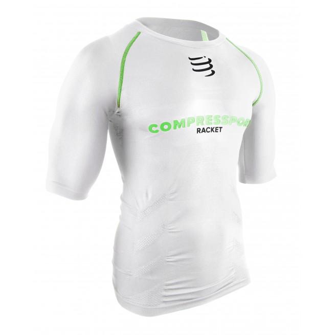 Compressport Short sleeve Top - White - Racket