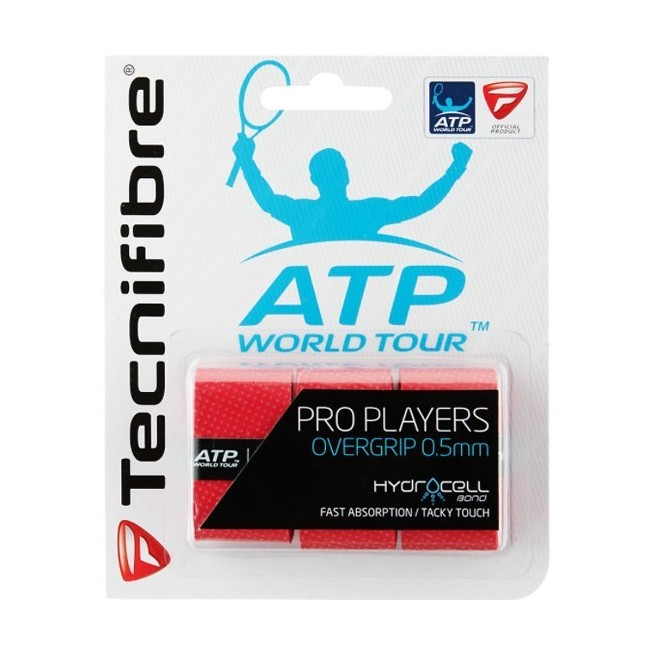 Tecnifibre Pro Players Red overgrip | My-squash.com