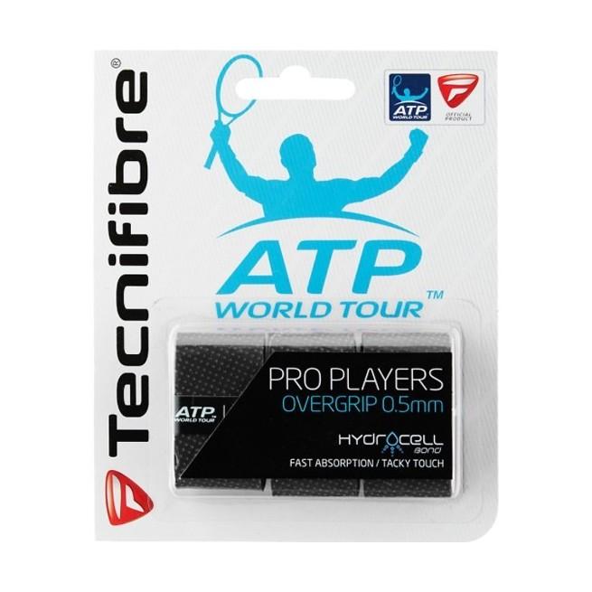 Tecnifibre Pro Players Black overgrip | My-squash.com