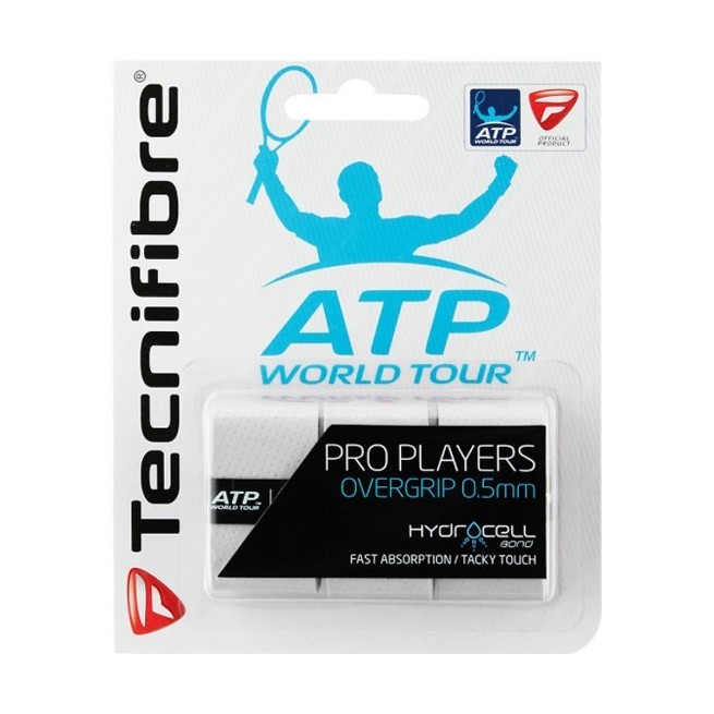 Tecnifibre Pro Players White overgrip | My-squash.com