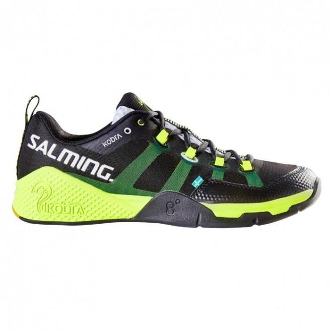 Salming Kobra Black / Yellow Squash shoes | My-squash.com