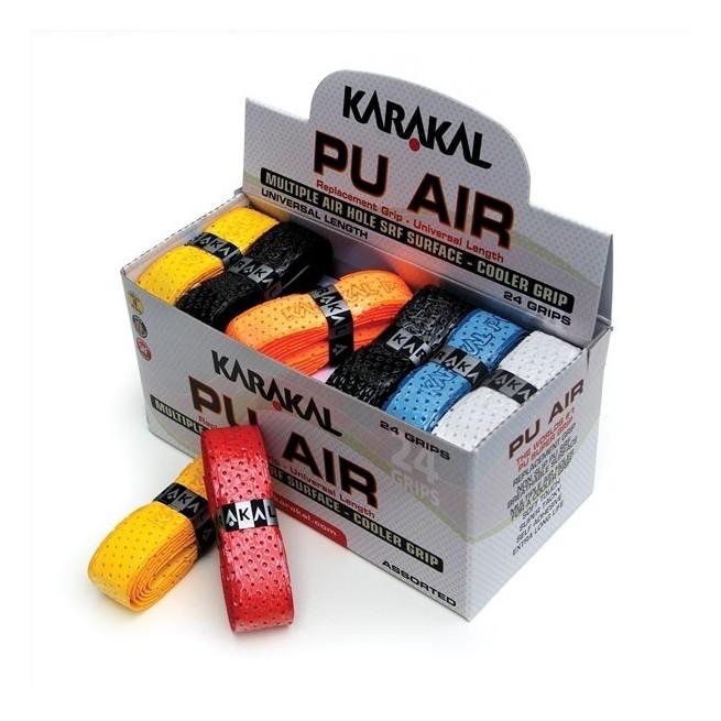 Karakal PU Air Grip - Box of 24 assorted grips | My-squash.com