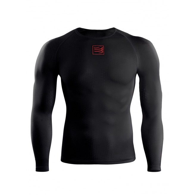 Compressport T-Shirt UltraLight Shirt - Noir - Racket | My-squash.com