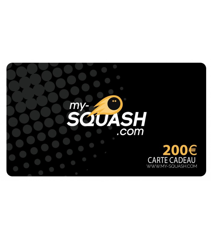 Gift Card 200 euros | My-squash.com