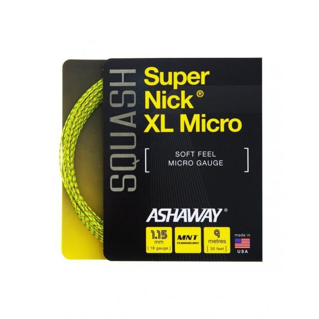 Cordage squash Ashaway Super Nick XL Micro 9m