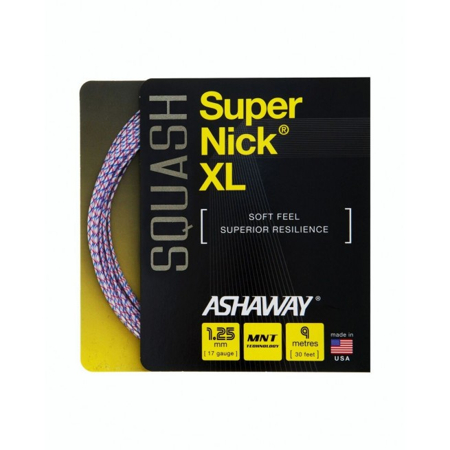 Cordage squash Ashaway Super Nick XL 9m | My-squash.com