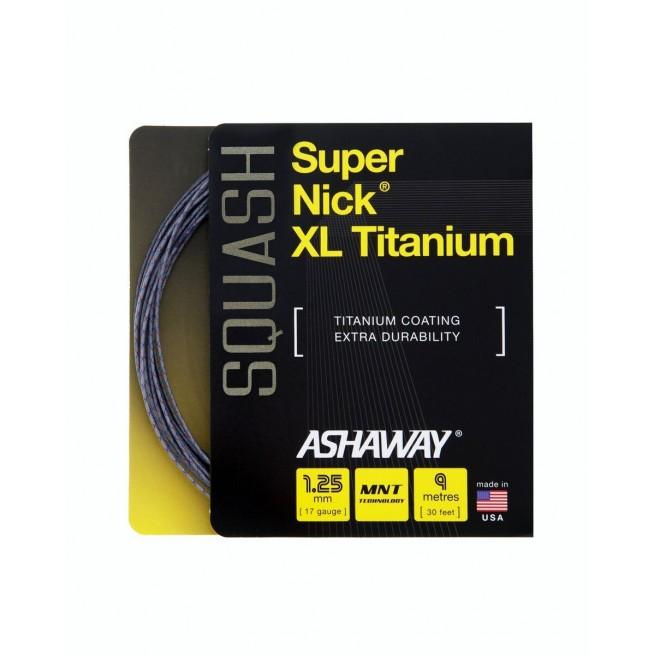 Ashaway Super Nick XL Titanium 9m Squash string   My-squash.com