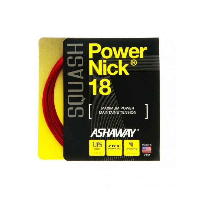 Cordage squash Ashaway Power Nick 18 9m