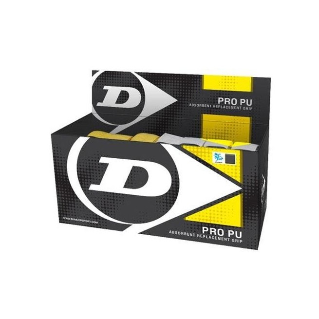 Dunlop Pro Pu - Box of 24 grips | My-squash.com