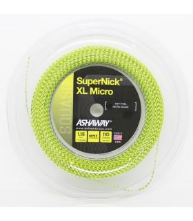 Cordage squash Ashaway SuperNick XL Micro Jaune | My-squash.com