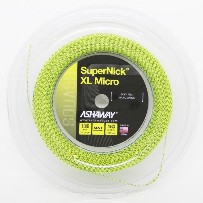 Ashaway SuperNick XL Micro 18 1.15 mm 110 m Squash strings