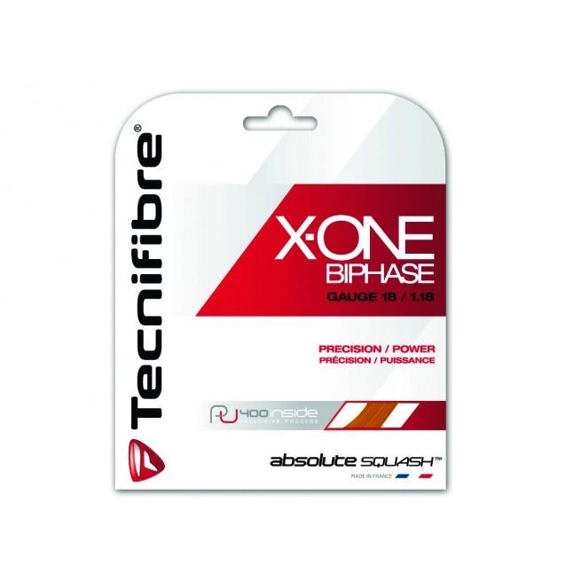 Tecnifibre X-One Biphase 1.18mm 9m Squash string | My-squash.com