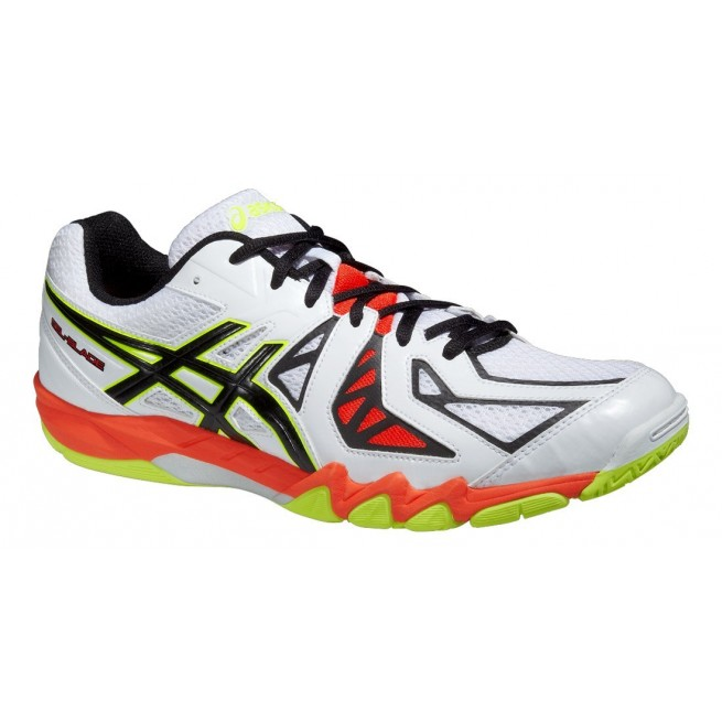 Asics Gel-Blade 5 White squash shoes | My-squash.com