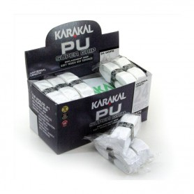 Karakal PU Super Grip - Box of 24 white grips | My-squash.com