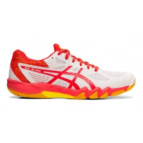 Asics Gel-blade 7 women white / Laser pink squash shoes | My-squash.com