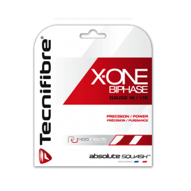 Cordage squash Tecnifibre X-One Biphase 1.18mm 9m rouge| My-Squash.com