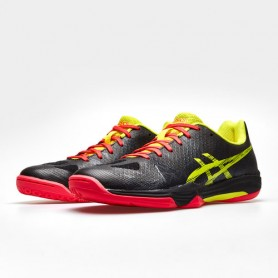 Asics Gel-Fastball 3 Squash Shoes Black / Sour Yuzu