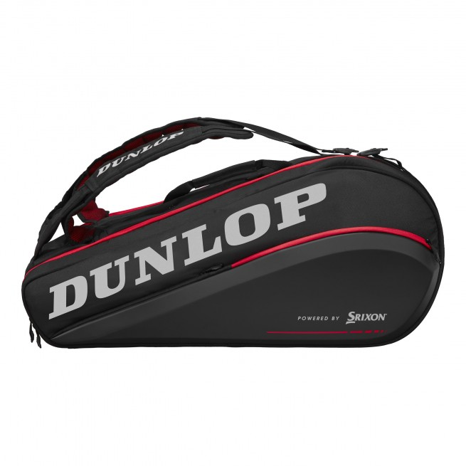 Dunlop Performance CX 9 Racket Squash Bag - Black/Red   My-Squash.com