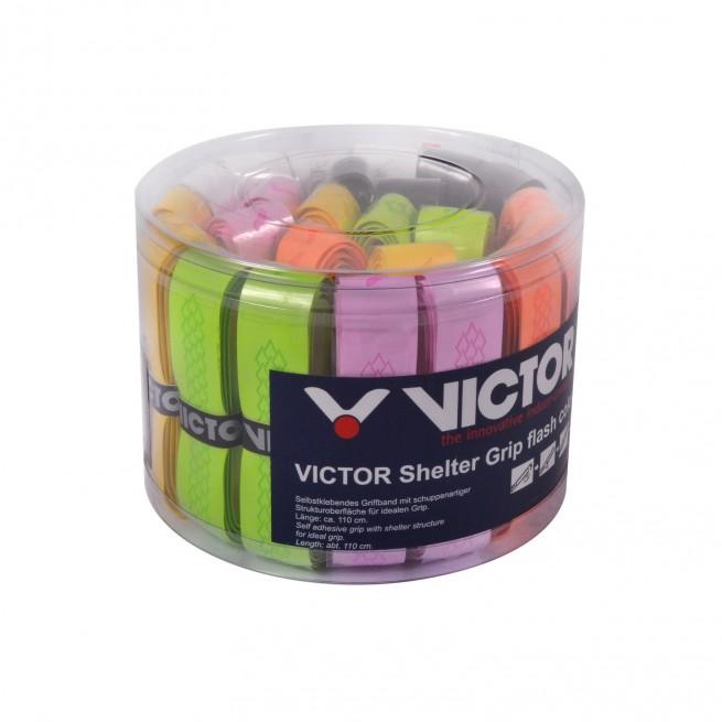 Victor Shelter Grip flash colour Grip - Boite de 24 grips | My-Squash.com