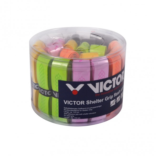 Victor Shelter Grip flash colour Grip - Box of 24 grips | My-Squash.com