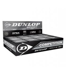 Balle de squash Dunlop Compétition - 12 balles |My-squash.com