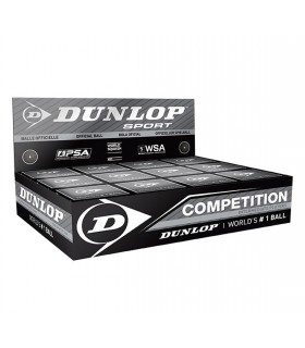 Dunlop Competition Squash Ball - 12 balls | My-squash.com