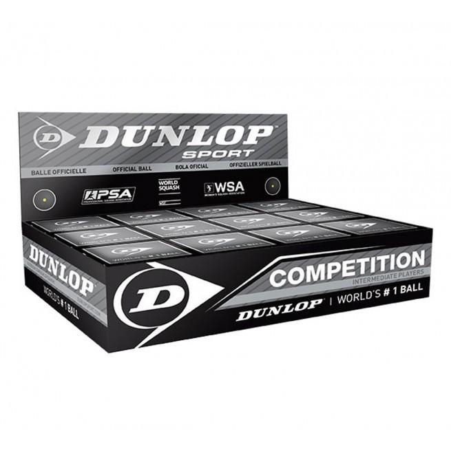 Dunlop Competition Squash Ball - 12 balls   My-squash.com
