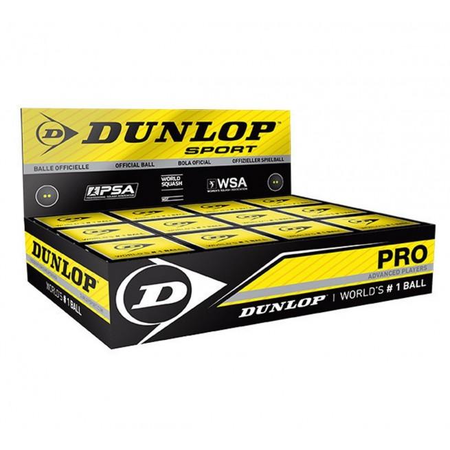 Balle de squash Dunlop Pro - 12 balles   My-squash.com