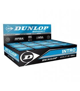 Balle de squash Dunlop Intro - 12 balles| My-squash.com