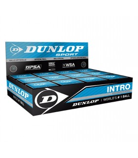 Dunlop Intro Squash ball - 12 balls | My-squash.com