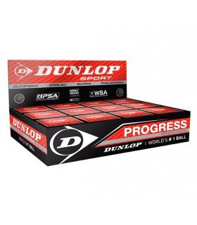 Balle de squash Dunlop Progress - 12 balles | My-squash.com
