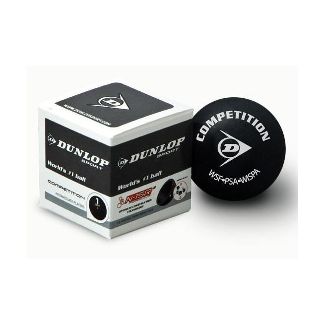 Balle de squash Dunlop Competition - 1 balle | My-squash.com