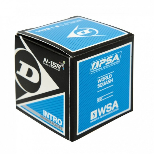 Balle de squash Dunlop Intro - 1 balle | My-squash.com