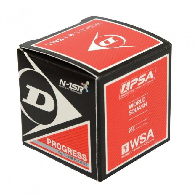 Balle de squash Dunlop Progress - 1 balle | My-squash.com