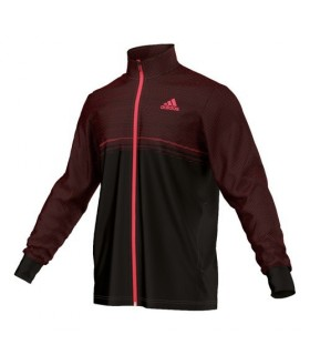 Adidas Barricade Training Jacket Men (Black/Red)  | My-squash.com