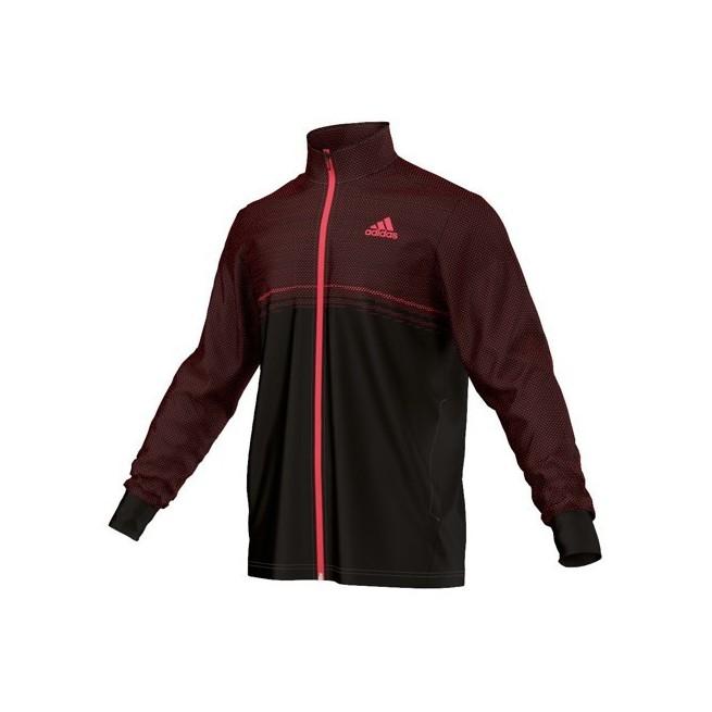 Adidas Barricade Training Jacket Men (Black/Red)  | My-squash.com