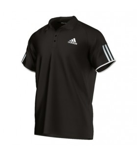 Adidas Club Polo Men (Black/White)  | My-squash.com