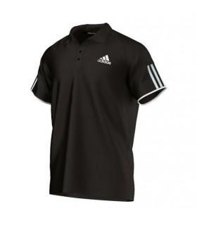 Adidas Club Polo Homme Noir/ Blanc | My-squash.com