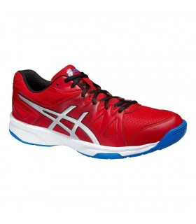 Asics Gel-Upcourt Fiery Red / Silver / Electric Blue squash shoes