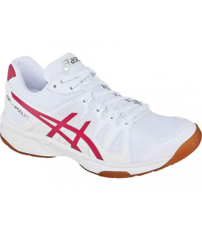 Asics Gel-Upcourt White/Raspberry/Silver squash shoes