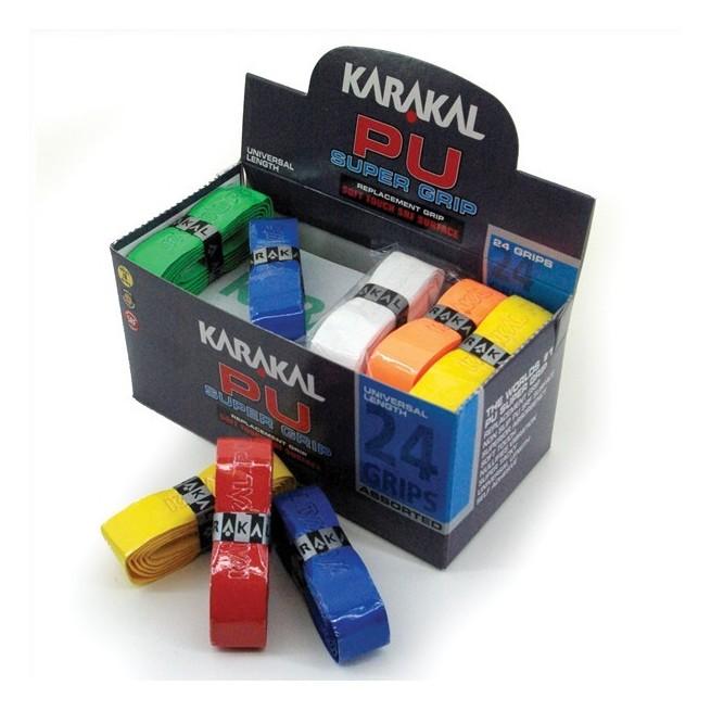 Karakal PU Super Grip - Boite de 24 grips assortis   My-squash.com
