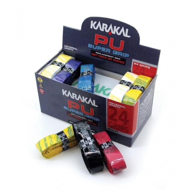 Karakal PU Super Grip - Box of 24 grips multi | My-squash.com