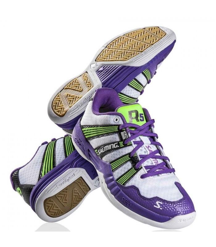 Salming Race R5 2.0 White/Purple squash shoes