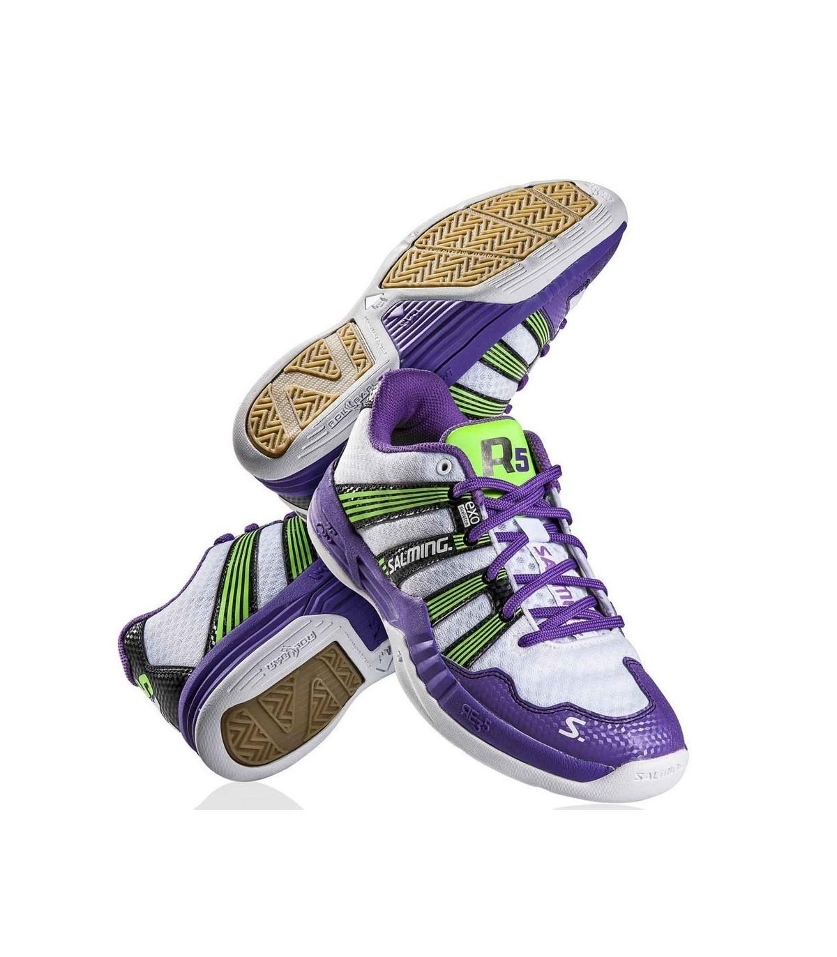 b00dc4d3729bea White   Purple Salming Race R5 2.0 Women Squash Shoes