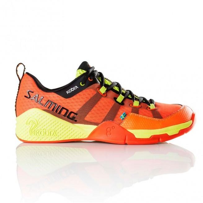 Salming Kobra Magma Red / Black Squash shoes   My-squash.com