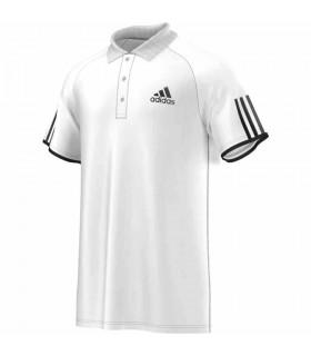 Adidas Club Polo Homme Blanc/ Noir | My-squash.com