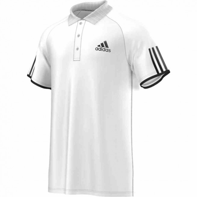 Adidas Club Polo Men (White/Black)  | My-squash.com