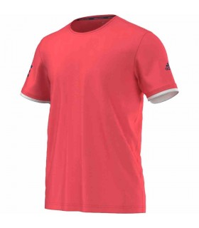 Adidas Club T-Shirt Men (FLASH RED S15 / TECH STEEL F16) | My-squash.com