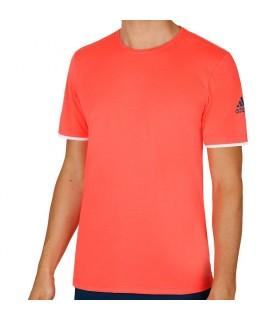 Adidas Club T-Shirt Men (FLASH RED S15 / TECH STEEL F16) | My-squash.com